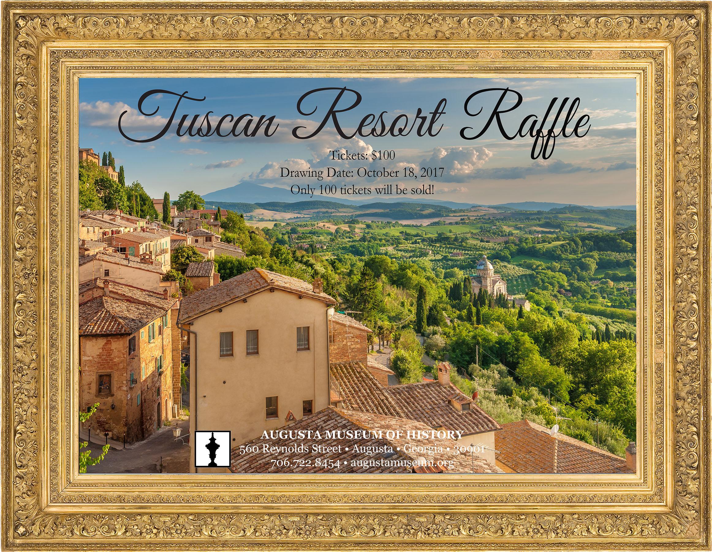 Tuscan Resort Raffle | Augusta Museum of History
