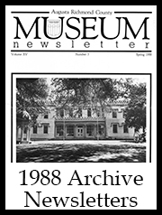 1988 Archive Newsletter Button | Augusta Museum of History