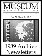 1989 Archive Newsletter Button | Augusta Museum of History