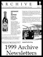 1999 Archive Newsletter Button | Augusta Museum of History