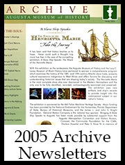 2005 Archive Newsletter Button | Augusta Museum of History