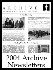 2004 Archive Newsletter Button | Augusta Museum of History