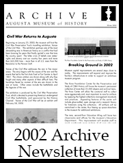 2002 Archive Newsletter Button | Augusta Museum of History