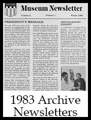 1983 Archive Newsletter Button | Augusta Museum of History