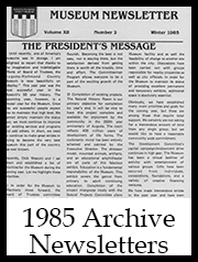 1985 Archive Newsletter Button | Augusta Museum of History