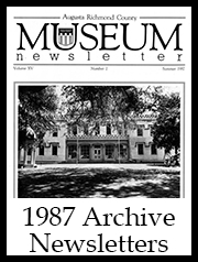 1987 Archive Newsletter Button | Augusta Museum of History