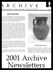 2001 Archive Newsletter Button | Augusta Museum of History