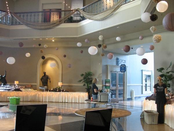 Rotunda Hanging Paper Lanterns Wedding Event Venue   Augusta Museum of History