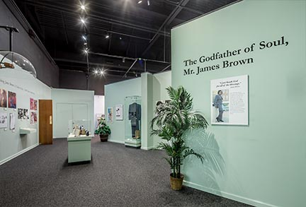 Exhibits - James Brown Entrance | Augusta Museum of History