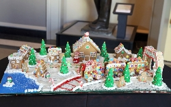 Gingerbread Train Village by the Augusta Museum of History Staff